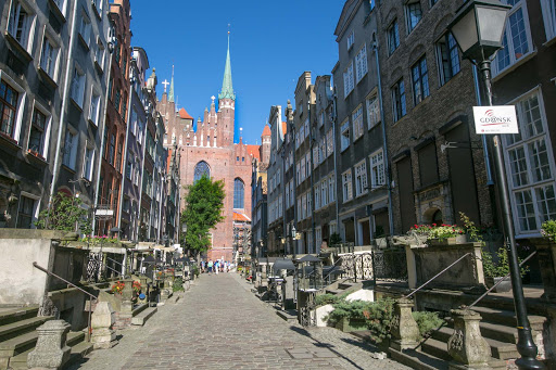 Old-Gdansk-historic-street.jpg - A Viking Sun shore excursion took guests down a historic street in Old Gdansk, Poland.
