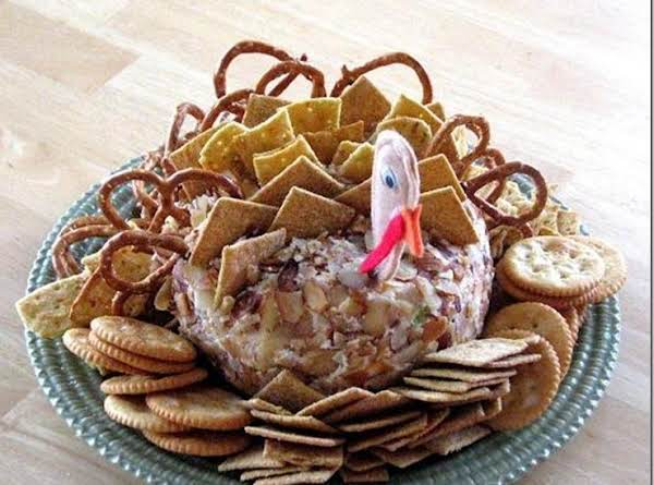 Saw This Photo On-line And Thought It Would Be  A Great Way To Serve My Cheese Ball Recipe. Enjoy!