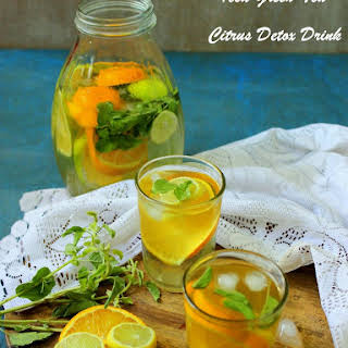 Iced Green Tea - Citrus Detox drink.
