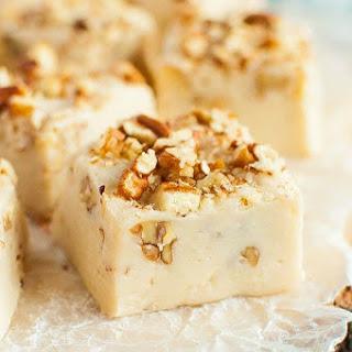 Easy Salted Maple Nut Fudge.