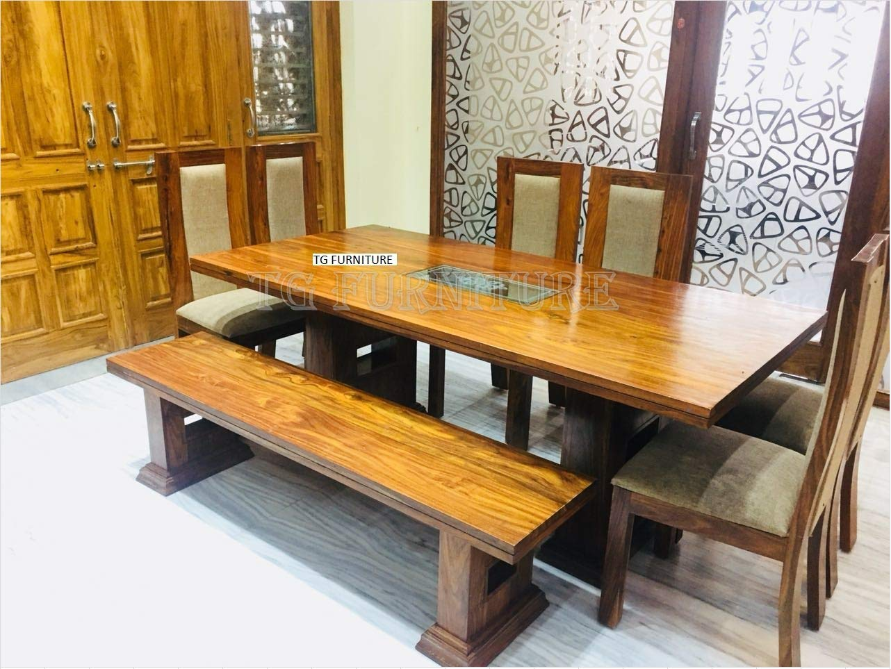TG FURNITURE Rosewood Dining Table Set 6