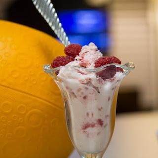 3 Ingredient Raspberry Frozen Yogurt.