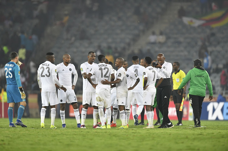 Orlando Pirates during the CAF Champions League match between Orlando Pirates and Platinum FC at Orlando Stadium on March 08, 2019 in Johannesburg, South Africa.