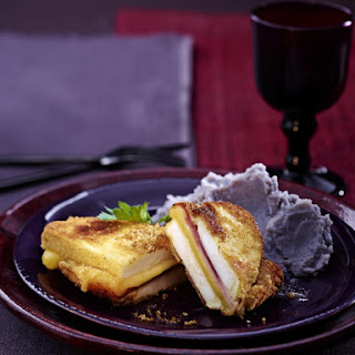 Celeriac Cordon Bleu with Purple Mashed Potatoes