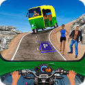 Indian Mountain Rickshaw Taxi Driver 2 icon