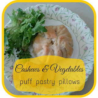 Cashews & Vegetables Puff Pastry Pillows.