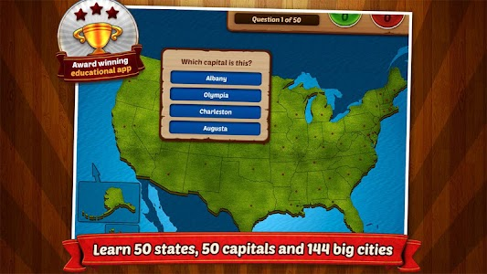 GeoFlight USA: Geography screenshot 1