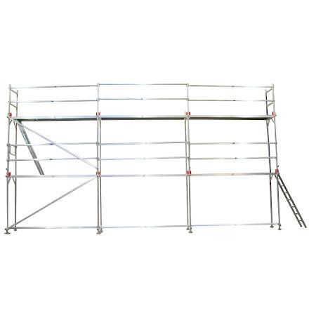 Fasadställning ALU Jumbo Superflex 8 x 18m