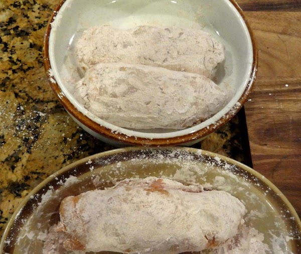 Mix flour and paprika in a shallow dish and coat chicken pieces.  Note:  You...