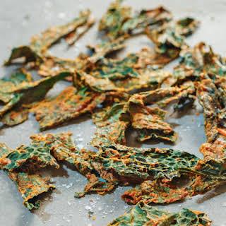 Cheesy Calcutta Kale Chips.