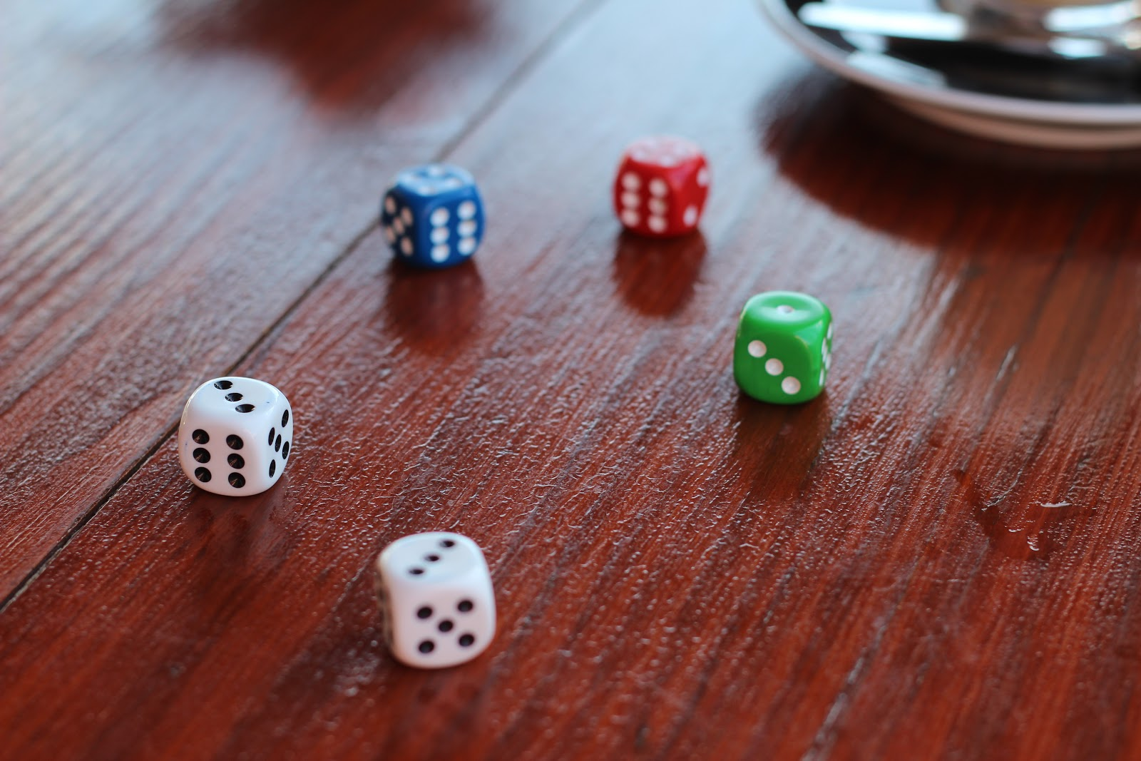 Dice. Fun esl games for adults can range from using dice to just your imagination.