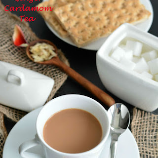 Indian Style Ginger Cardamom Tea.