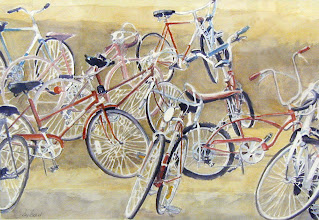 Photo: Gracie and Friends . watercolor . 24x36
