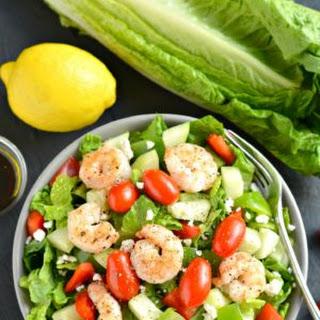 Greek Shrimp Salad {GF, Low Cal, Paleo}