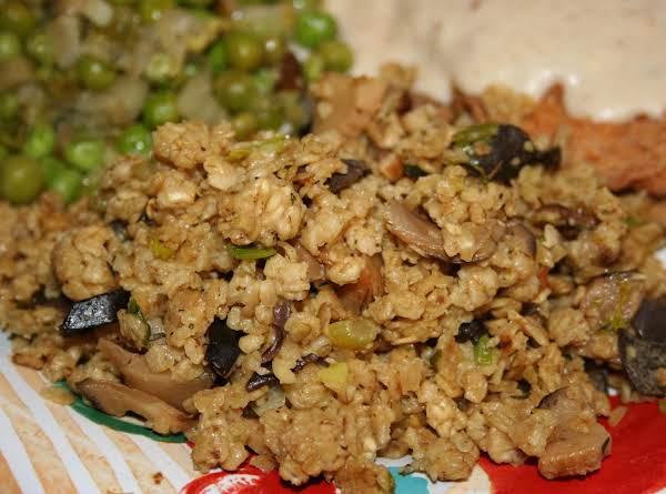 Oatmeal Mushroom Pilaf Recipe