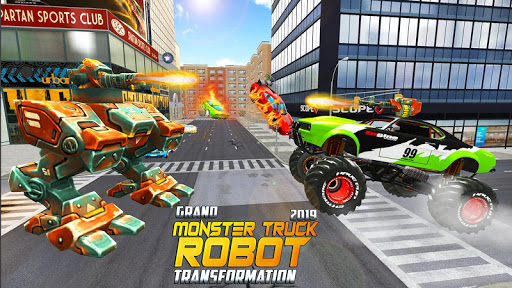 Real Robot Transform Monster Truck Fight ss2