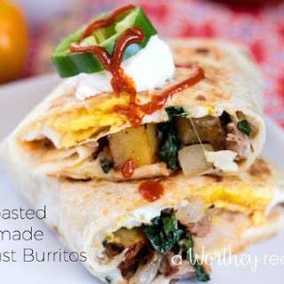 Pan Roasted Homemade Breakfast Burritos