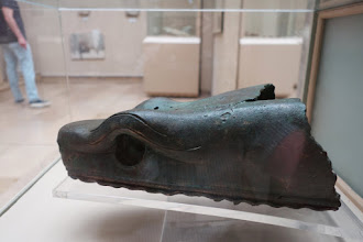 Photo: Snake head that should be on Post situated in the Hippodrome.
