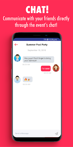 Partle: Organize and attend events! screenshot 1