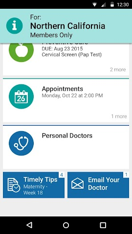 android KP Preventive Care (NCAL only) Screenshot 0