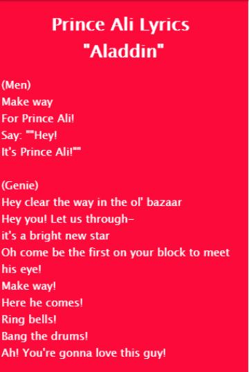 Songtext von Peabo Bryson & Regina Belle - A Whole New ...