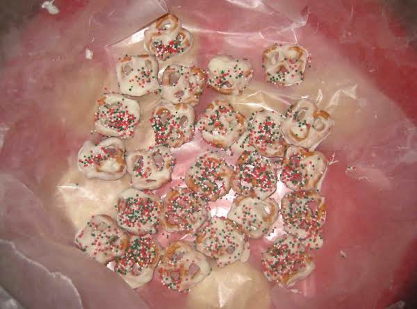 White Chocolate-covered Pretzels. Love These Sweet And Salty Treats.