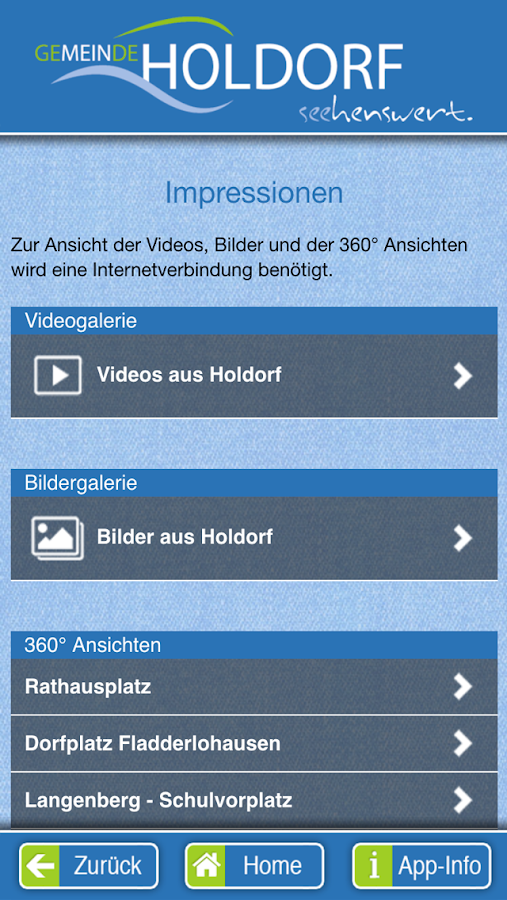 Holdorfer App – Screenshot