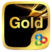 Luxury Gold Go Launcher Theme