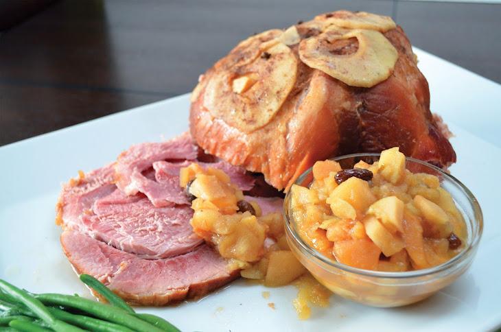 Slow Cooker Ham with Apple Sauce Recipe