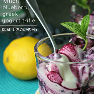 Lemon Blueberry Greek Yogurt Trifle.