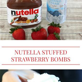 Nutella Stuffed Strawberry Bombs