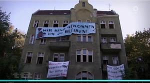 Besetztes Haus, Bild aus Video.