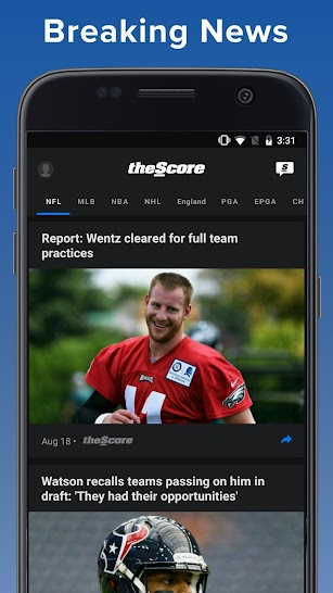 theScore: Live Sports Scores, News, Stats & Videos screenshot for Android