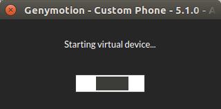 Start virtual device