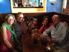 Photo: Lisa, Darrell, Laura and Ross at Blueberry Hill, The Loop, St. Louis, MO