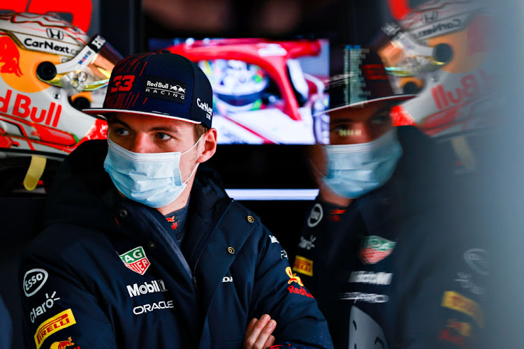 Max Verstappen of Netherlands and Red Bull Racing looks on during qualifying ahead of the F1 Grand Prix of Emilia Romagna at Autodromo Enzo e Dino Ferrari on April 17, 2021 in Imola, Italy.