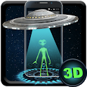 Blue Tech Galaxy UFO 3D Live Theme icon