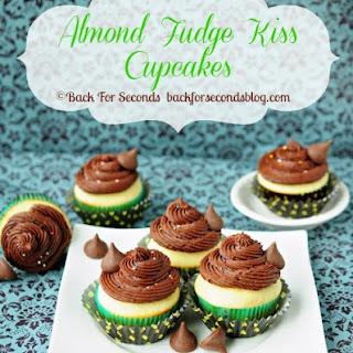 Almond Fudge Kiss Cupcakes