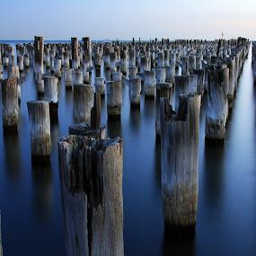 Princes Pier, Port Melbourne by Chris Romano - Landscapes Waterscapes ( melbourne, pier, landscapes, waterscapes )