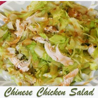 Chinese Chicken Salad with Peanut Dressing