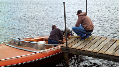 Photo: Jim helped my dad get the boat running