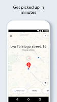 screenshot of Yandex.Taxi Ride-Hailing Service