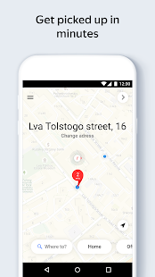 Yandex.Taxi Ride-Hailing Service Screenshot