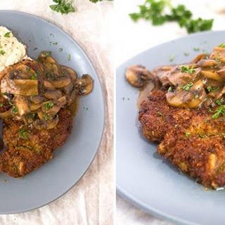 Pork Schnitzel With Mushroom Gravy