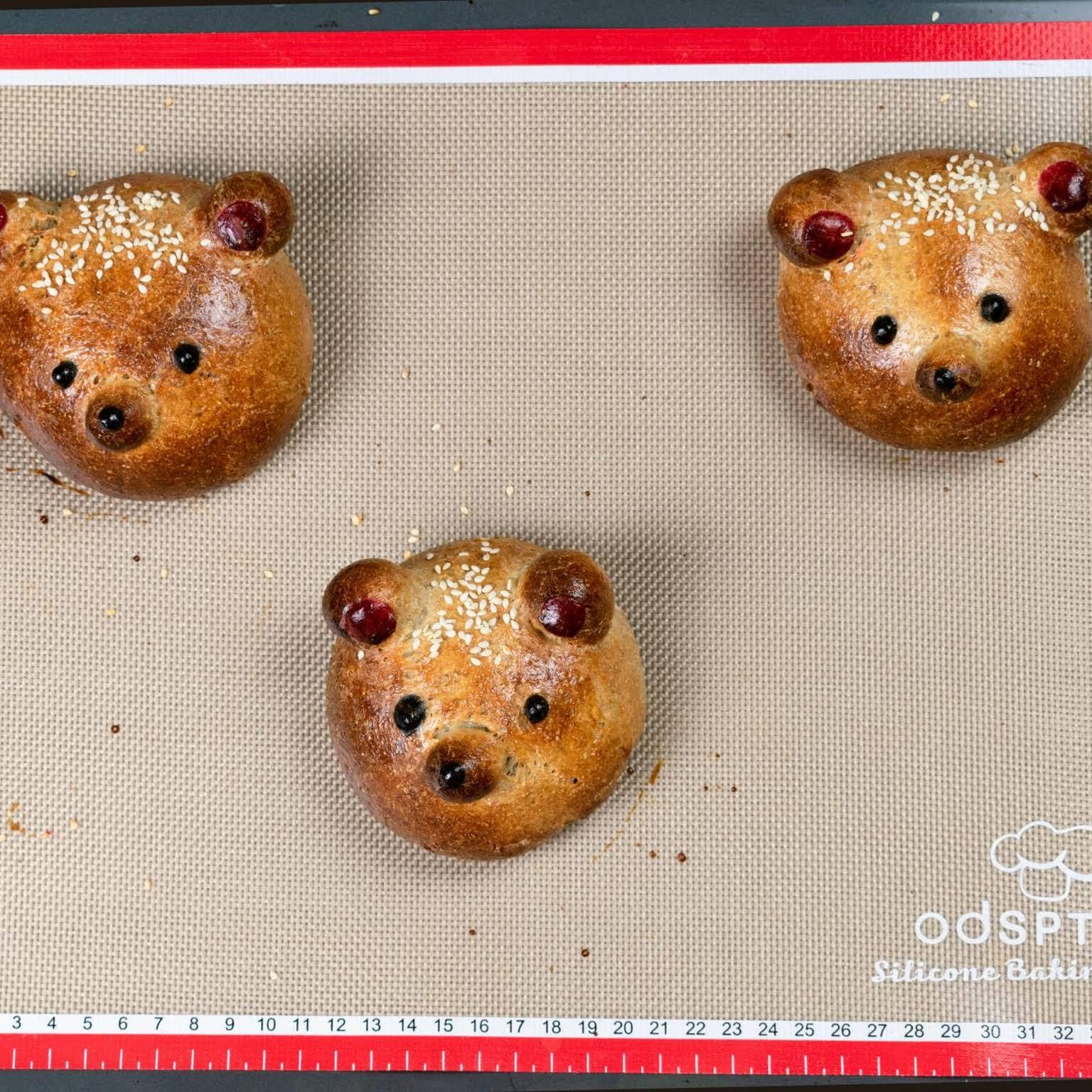 Teddy Bear Burger Buns