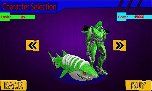 Warrior Robot Shark Game:Angry Shark Simulator App - náhled