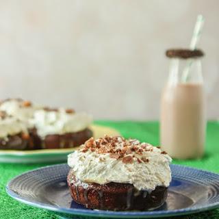 Snickers Caramel & Chocolate Poke Cake.