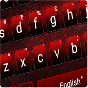 Black Red Edgy keyboard