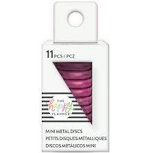 Me & My Big Ideas MINI Happy Planner Metal Expander Discs 11/Pkg - Hot Pink