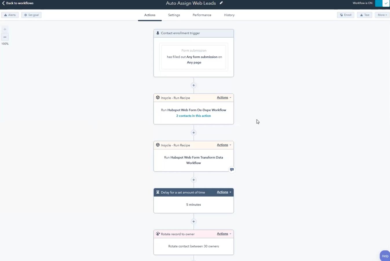 Quick Attach HubSpot Workflow